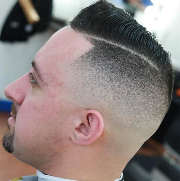 Short Comb Over with Skin Fade - Comb Over Fade Haircuts