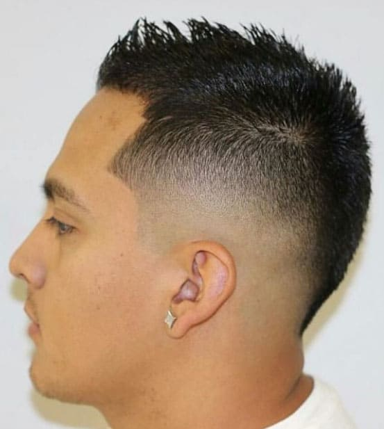Short Fancy Mohawk with Sharp Fade