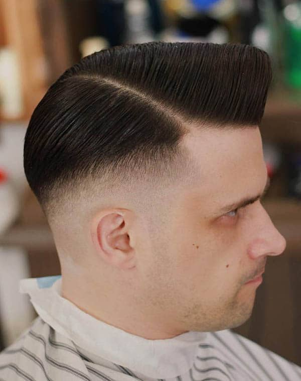 Side Part Pompadour - Side Part Haircuts For Mens