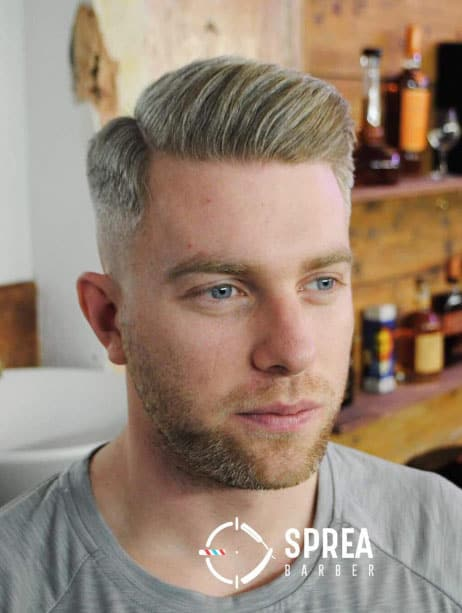 Side Part with a Bald Fade - Short Haircuts For Men