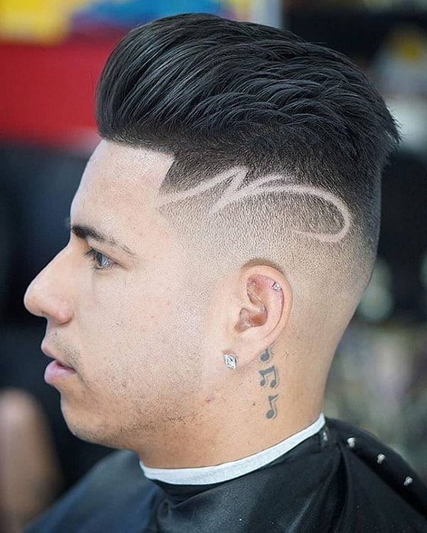 Skin Fade with a design