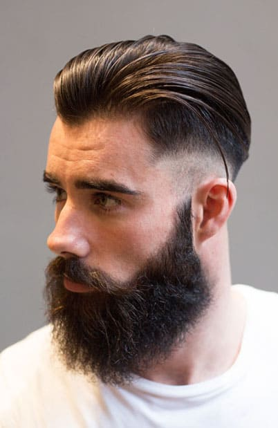 Slicked Back Skin Fade Haircut