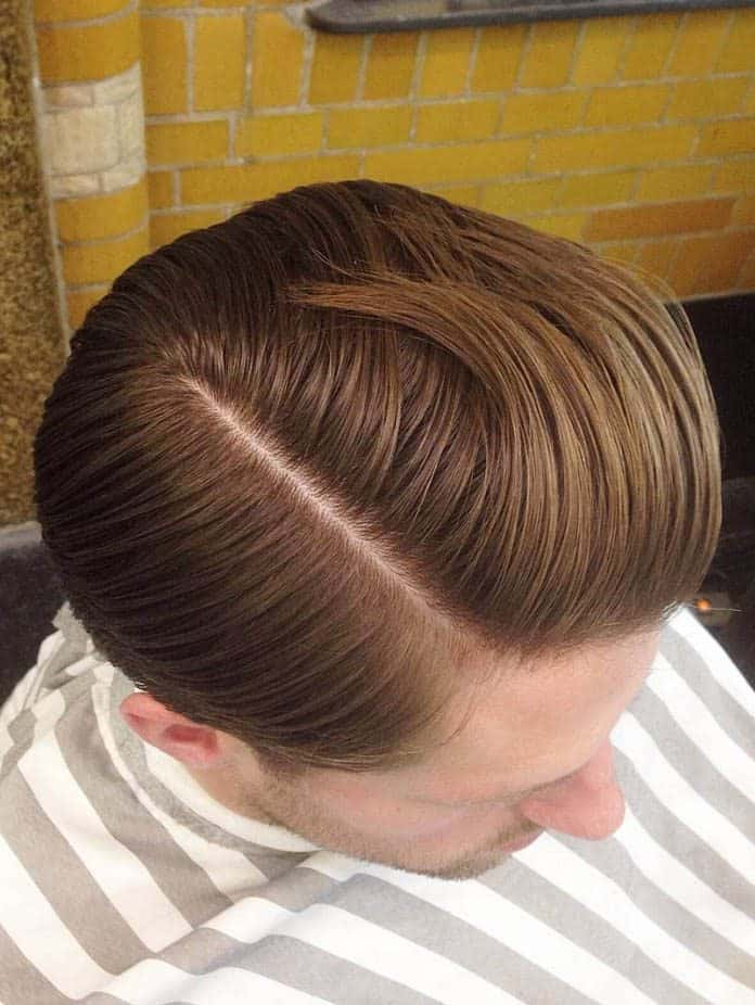 Straight and Layered Comb Over Sides Part Haircuts