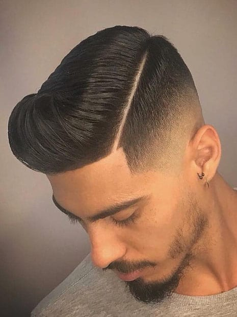 TAPER FADE WITH HARD SIDE PART - Taper Haircuts For Men