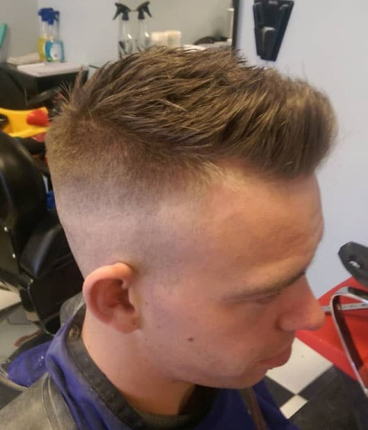 Textured Crop with a Razor Fade - Short Haircuts For Men
