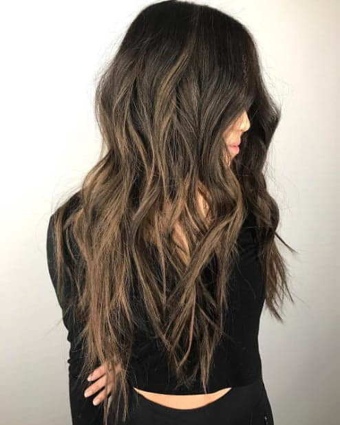 Textured Long Hair - Long Layered Hairstyles