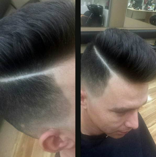 The Fade Side Part - Side Part Haircuts For Men