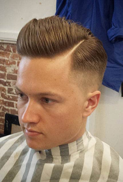 The Faded Pompadour Sides Part Haircuts