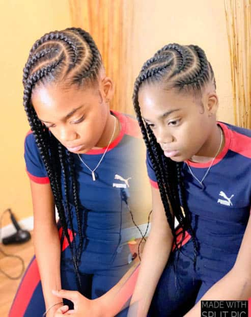 The Trailing Cornrows - Goddess Braids Styles