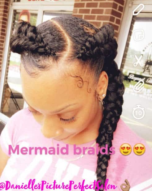 The mermaid spin - Goddess Braids Styles