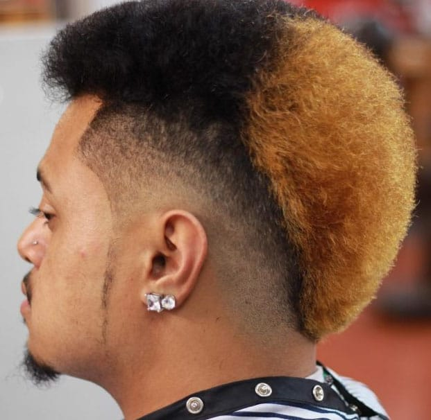 Two Toned Mohawk Fade Haircuts