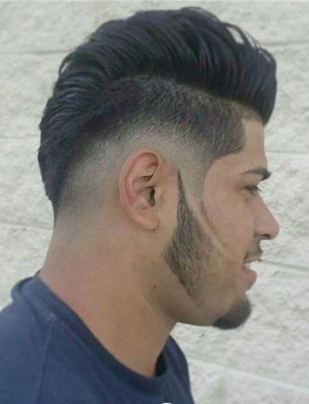 Voluminous Pompadour Bangs Mohawk Fade Haircuts