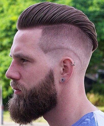 Wavy Undercut with Side Part - Best Killermonger Hairstyles