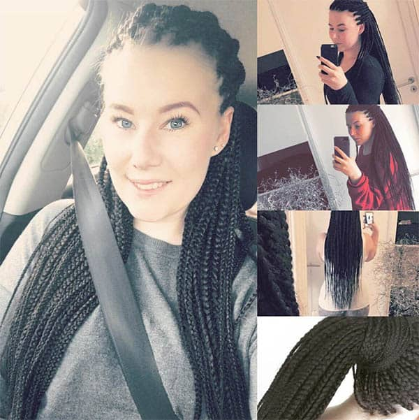8-Inches of Pure Bliss Box Braids For Black Women