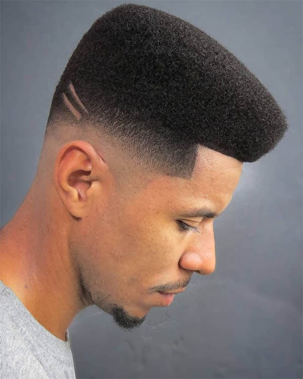 Afro Quiff With Design - Best Quiff Haircuts For Men