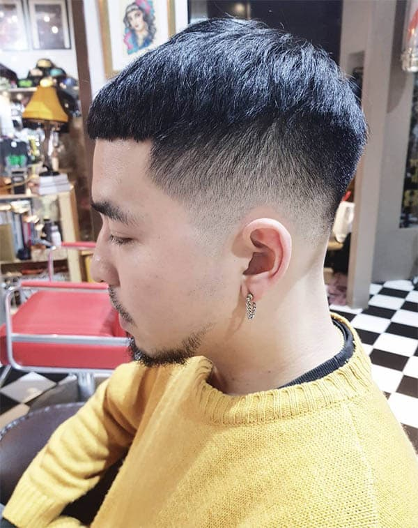 Asian Undercut Fade - Disconnected Undercut Hairstyles