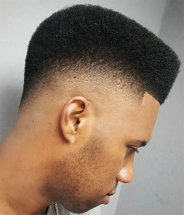 Back Drop Fade with Flat Top - High Top Fade Haircuts