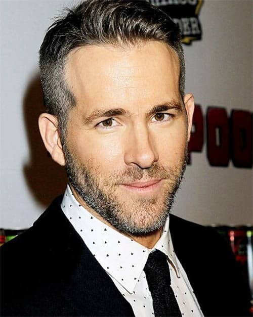 Back Swept Quiff with a Fade - Ryan Reynolds Best Haircuts