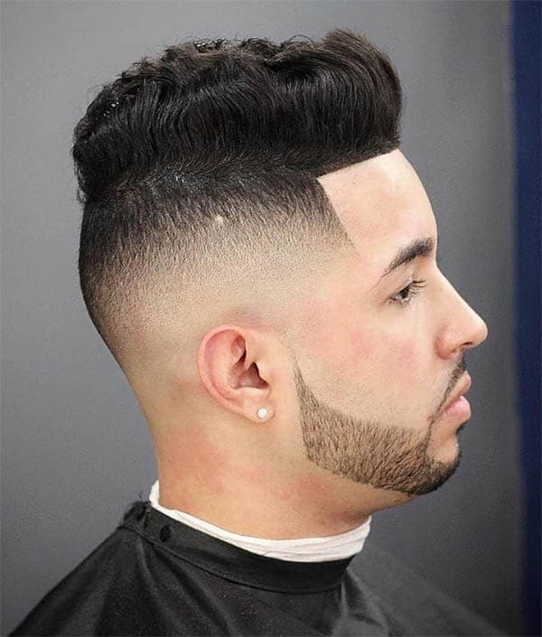 Blow Out Pompadour - High Top Fade Haircuts