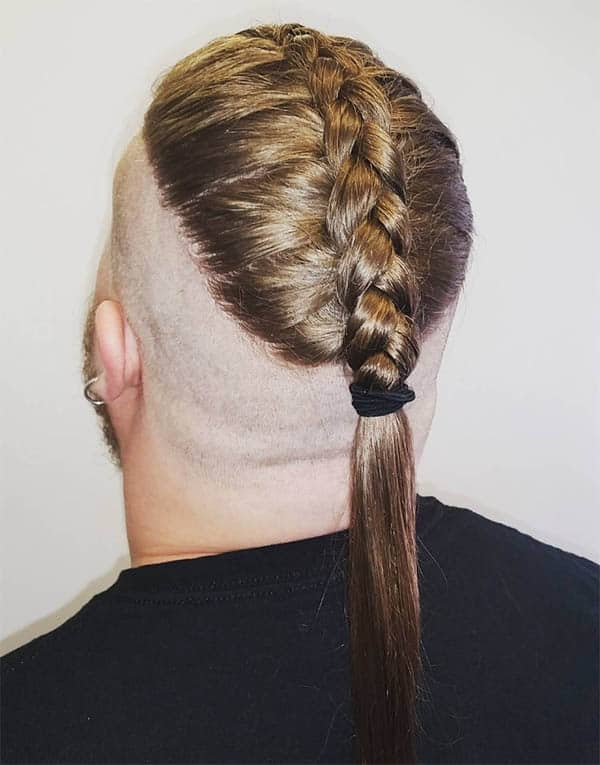 Braided Men's Ponytail - Best Men's Ponytail Hairstyles
