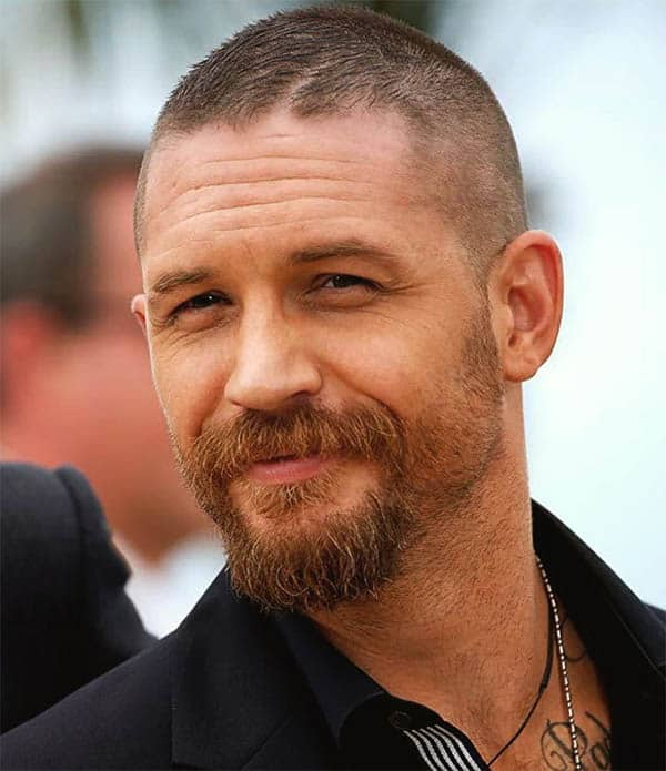 Buzz Cut with Beard - Best Tom Hardy Haircut