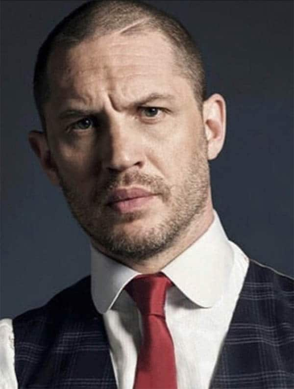 Buzz Cut with Stubble - Best Tom Hardy Haircut