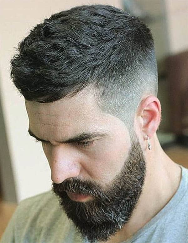 CAESAR HAIRCUT WITH BEARD
