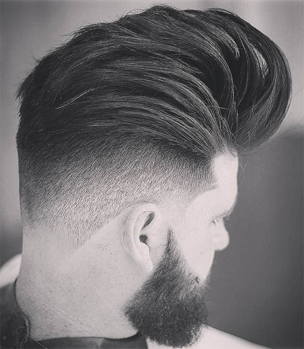 Comb Over Pompadour - Disconnected Undercut Hairstyles