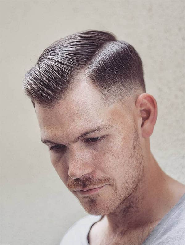 Comb Over + Razor Fade - Haircuts For Balding Men