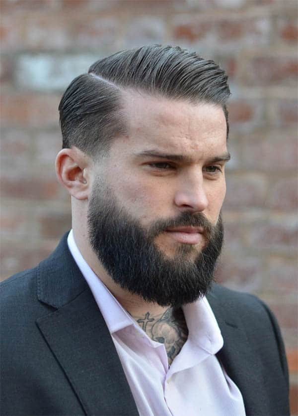 Comb Over + Side Part - Haircuts For Balding Men