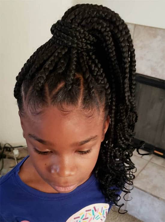 Curly Ends Box Braids For Black Women