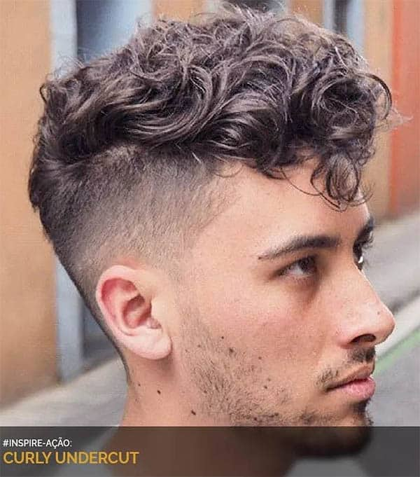 Curly - Men's Long Hair With Undercut Hairstyles
