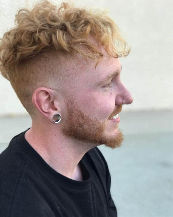 Curly Punk With Undercut