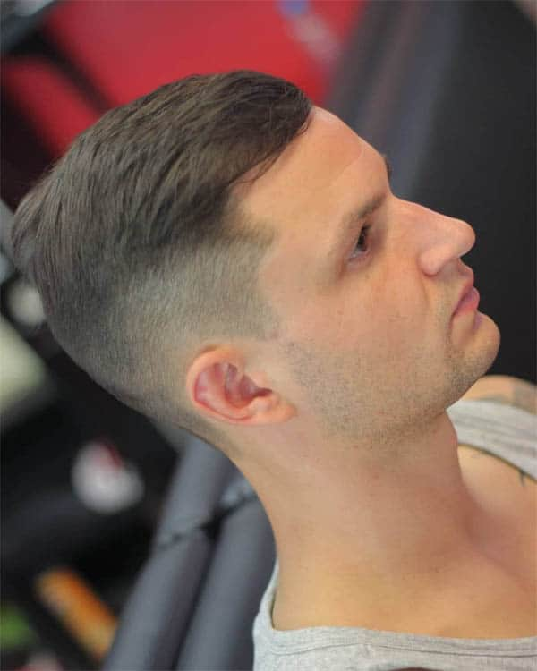 Curved Slick Back Haircuts For Men