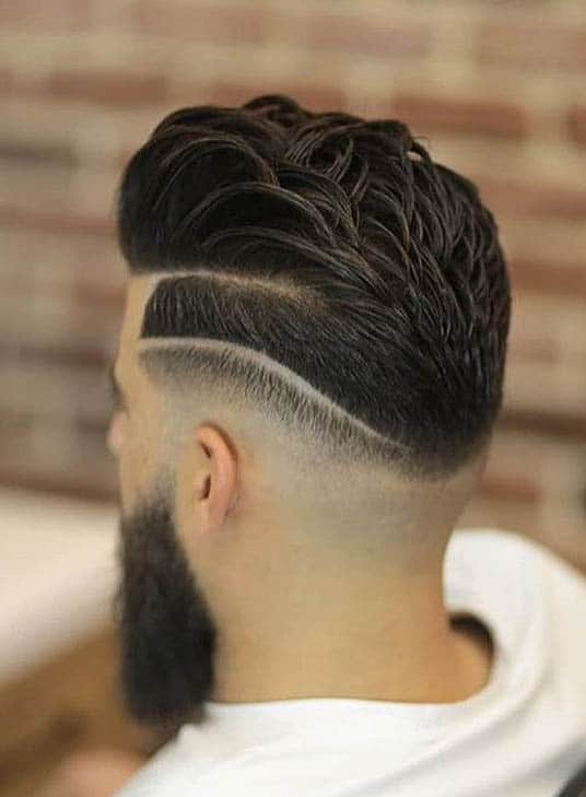 Disconnected Slick Back Haircut For Men
