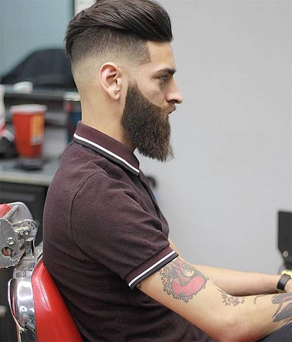 Disconnected Undercut With Beard - Disconnected Undercut Hairstyles