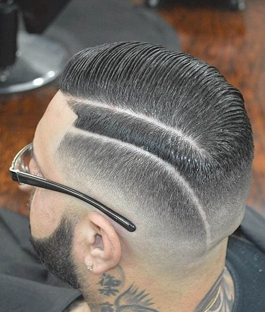Double Hard Part Hairstyle