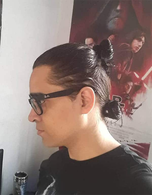 Double Men's Bun Ponytail