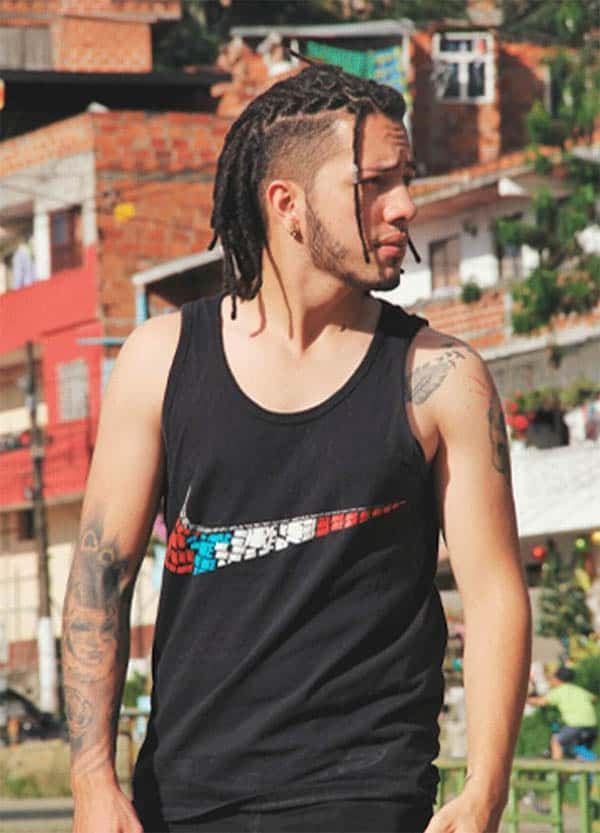 Dreadlocks with High Fade - Men's Long Hair With Undercut Hairstyles