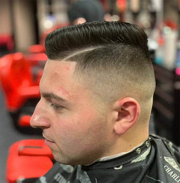 Edged Side Pomps - Short Sides Long Top Hairstyles For Men