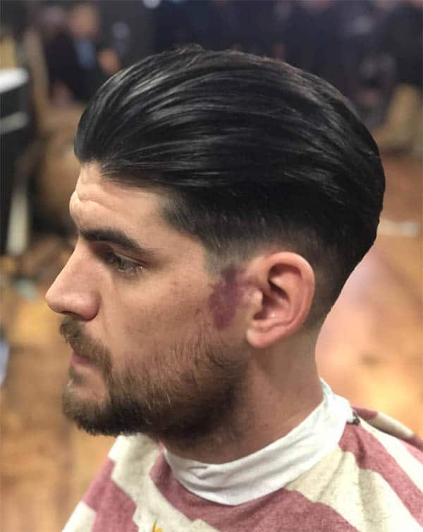 Extra Slick Back Haircut For Men