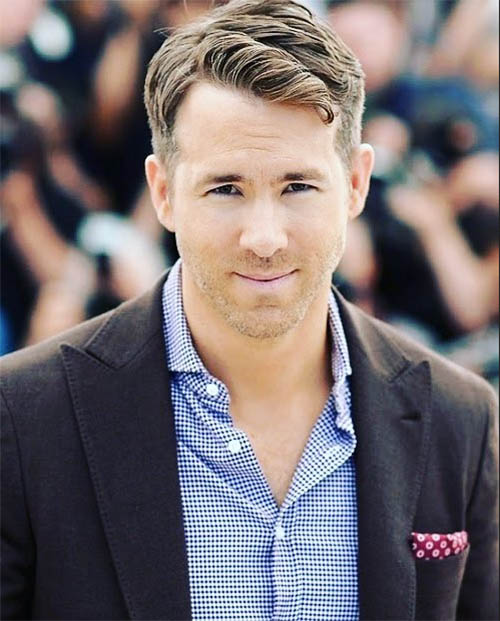 Fancy Top Swirls - Ryan Reynolds Best Haircuts