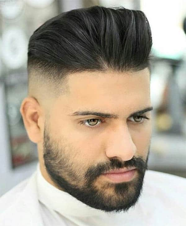 Finger Combed Pomp + Disconnected Undercut - Disconnected Undercut Hairstyles