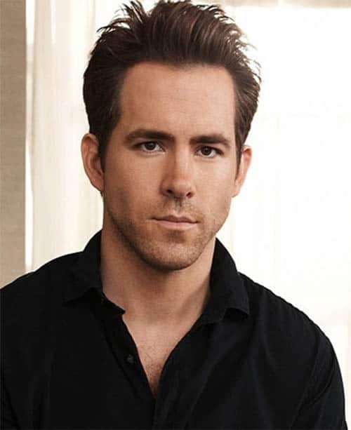 Formal Back Sweep - Ryan Reynolds Best Haircuts