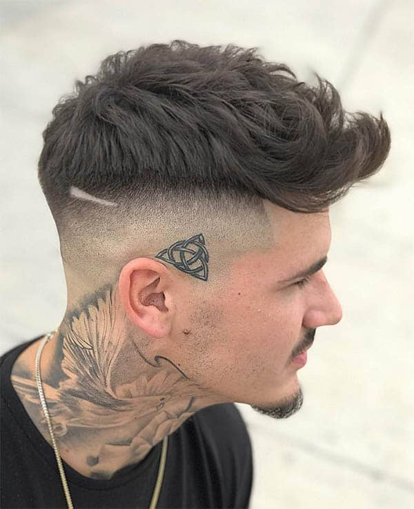 Forward Wavy Hair + Fade - Men's Wavy Hairstyles
