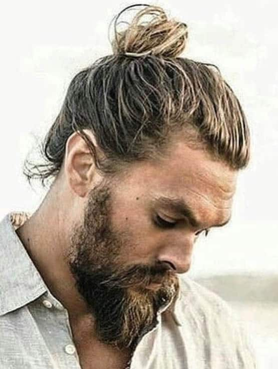 Full Man Bun - Trendy Samurai Hairstyles