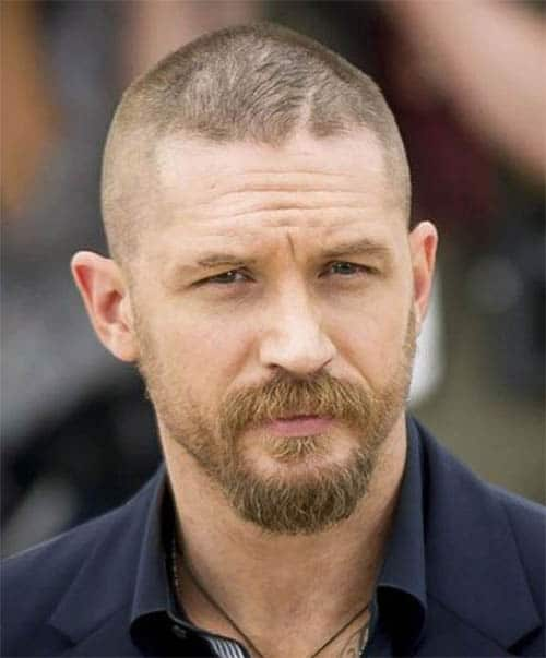 Fully Bald - Best Tom Hardy Haircut