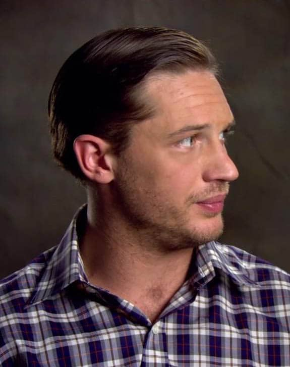 Gelled Back Medium Cut - Best Tom Hardy Haircut
