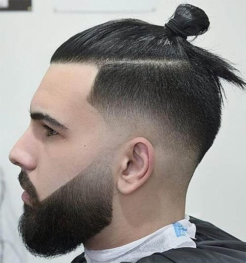 High Fade Man Bun - Trendy Samurai Hairstyles