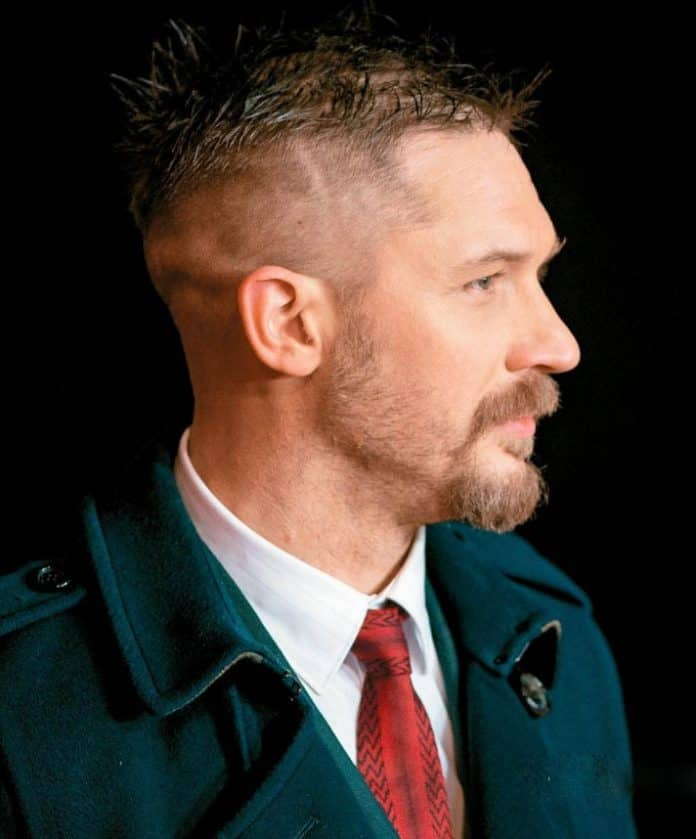 High Fade Messy Hair - Best Tom Hardy Haircut